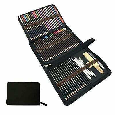 Colored Drawing Pencil Set, Colouring Pencils and Sketching Graphite Pencils Art