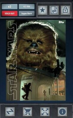 Topps Star Wars Card Trader Color Poster Portrait Award Chewbacca