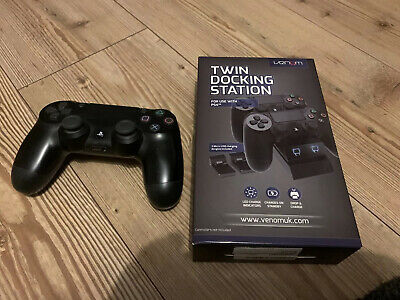 Official Sony PlayStation Ps4 Dualshock Wireless Black Controller Used Version 2