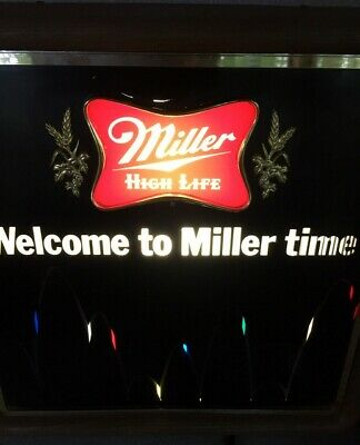 1983 Vintage Bouncing Miller High Life Motion Beer Light Sign, Tested & Working