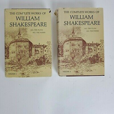 The Complete Works Of William Shakespeare Volumes 1 And 2 Nelson Doubleday