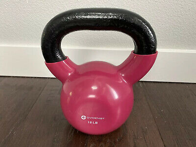New 18lb Pink Deluxe Vinyl Coated Cast Iron Kettlebell Kettle Weight 18 Lb Pound