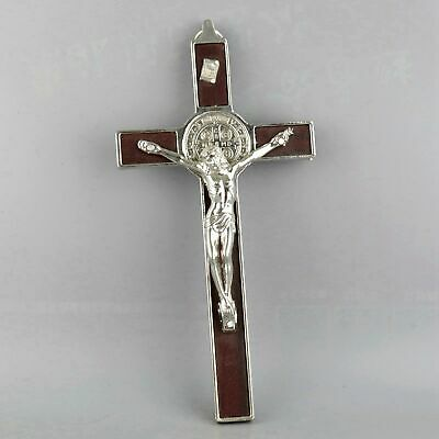 Collect China Tibet Silver Carved Crucifix Jesus Exorcism Bring Lucky Pendant