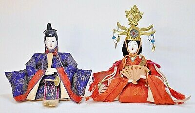 Antique Japanese Palm size Hina dolls circa 1920s(SKA)