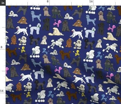 Poodle Dogs Fabric Printed by Spoonflower BTY
