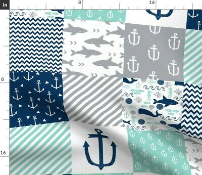Nautical Cheater Fabric Printed by Spoonflower BTY