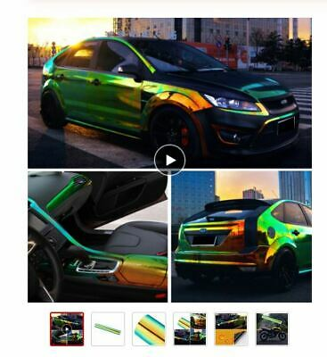 Chameleon Car Stickers Glossy Color DIY Body Films Wrap Graphics Decals