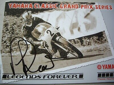 Phil Read signed Classic Yamaha rider card Grand Prix