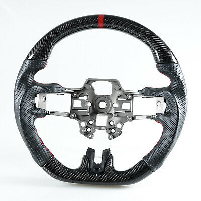 Carbon Fiber Steering Wheel Perforated Leather For Ford Mustang 2019-2020