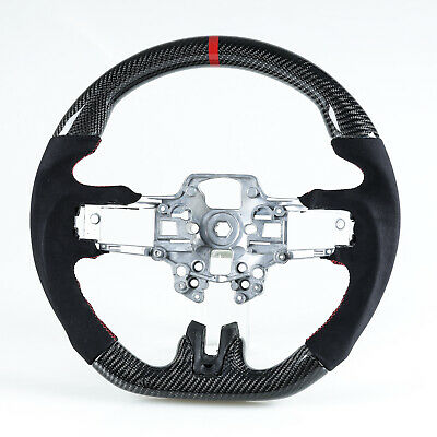 Carbon Fiber Steering Wheel Suede For Ford Mustang 2019-2020 Facelift