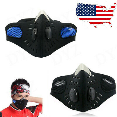 USA SELLER Cycling Air -Purifying Face Mask Cover Haze Washable Reusable Filter