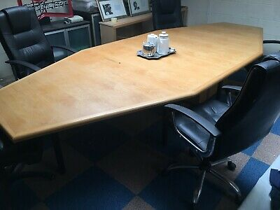 Boardroom Table in Oak.