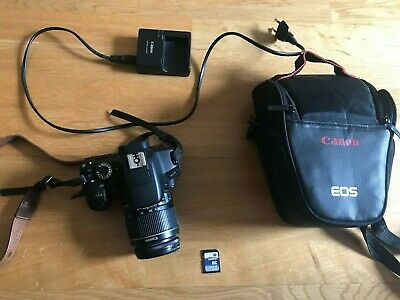 Canon EOS 650D DSLR Camera (Rebel T4I) + 18-55mm Lens + 16 GB Memory Card + Bag