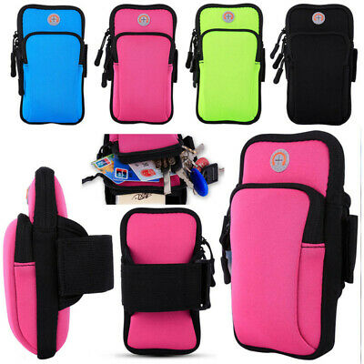 Sports Armband Case Cover Running Jogging Pouch Holder Bag Cell Phones