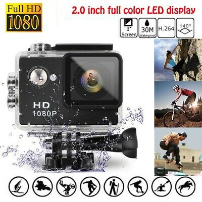 Sports Action Camera 4K 1080P Ultra HD Waterproof Cam DVR Camcorder 170