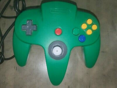 Nintendo 64 N64 Controller Green AUTHENTIC ORIGINAL OFFICIAL TESTED NUS 005 a1