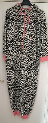 A Stunning New Look Ladies Leopard Print All In One Suit, Size L (14-8)