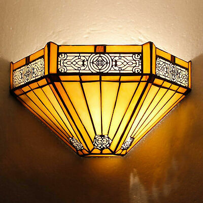 Tiffany Style Wall Sconce Light Sunflower Wall Washer Lamps Room Hotel Corridor