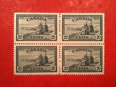 "Canadian Stamp #271... ""Combine Harvesting - Block of 4"" (mint)"
