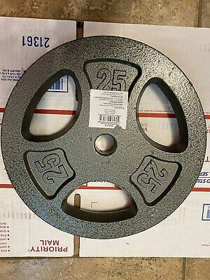50 lb Olympic Weight Plate Set - Two 25 lb Plates Pair - FAST FREE SHIPPING