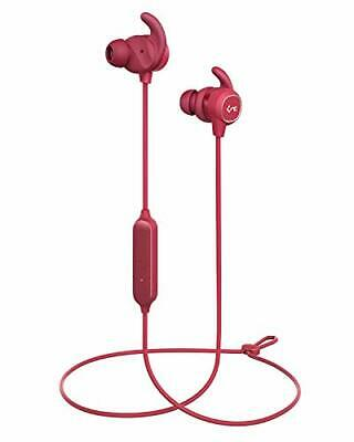 Wireless Earbuds, Bluetooth Headphones with Magnetic Switch, Bluetooth 5, (Red)