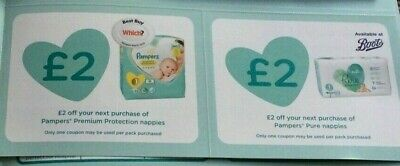 £24 worth of  PAMPERS NAPPY VOUCHERS - expiry DEC 2020
