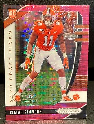 2020 Isaiah Simmons Panini Pink Prizm Draft Picks Rookie Card (RARE)