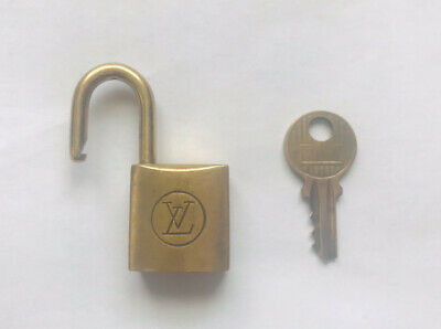Vintage Louis Vuitton Lock and Key #204 Authentic Luggage Padlock Brass
