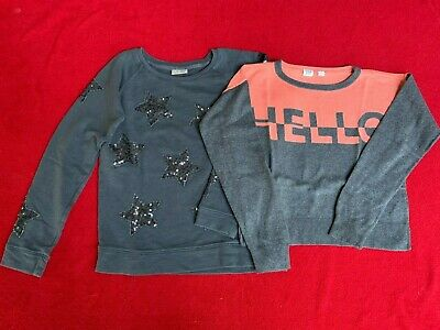 Girls Jumper & Sweatshirt. Age 12-13years. GapKids Grey & Coral. Next Grey