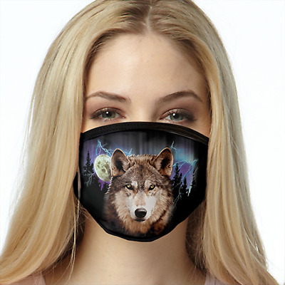 Wolf Lightning FACE MASK Reusable Washable Unisex Face Cover Cloth USA Seller