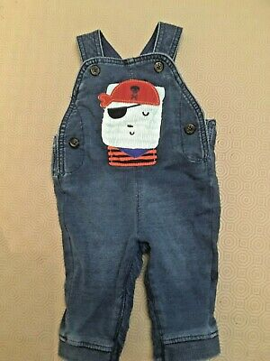 M&S Baby Boys Denim Dungarees  Age 0-3 Months  Good Used Cond