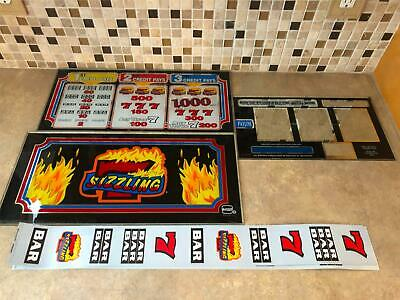 IGT Sizzling 7's Slot Machine Glass Set w/ Reel FAST FREE SHIPPING!!!(X-8)