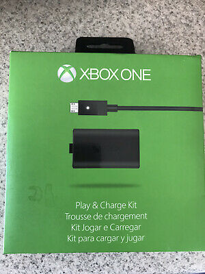 Official Microsoft Xbox One Play and Charge Kit Genuine Battery & Cord - In Box