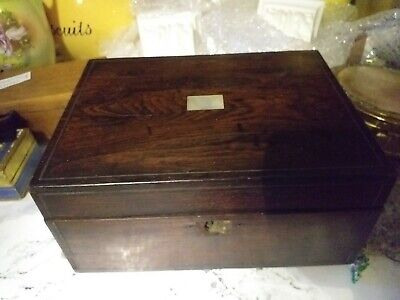 Fabulous Antique Georgian Rosewood Mother Of Pearl Inlaid Tea Caddy