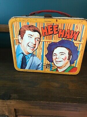 Vintage 1970 Hee Haw metal Lunch box and thermos
