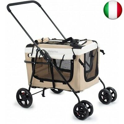 Display4top Pet Travel Passeggino Cane Cat Passeggino Carrozzina Passeggino