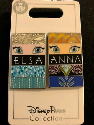 Frozen Anna and Elsa Eyes - Sisters Disney Parks Trading Pins Portrait 2 Pin Set