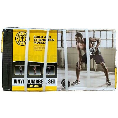 Golds Gym 40 lb Adjustable Vinyl Dumbbell Weight Set - BRAND NEW, SHIPS TODAY!