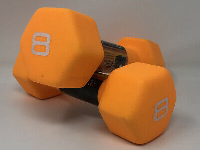 CAP 8LB Neoprene Hex Dumbbell Hand Weight Pair Set 16LBS  FAST SHIPPING