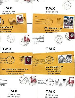 Readable QUEBEC, Canada  small town cancels on cover 20 different 1970's /8
