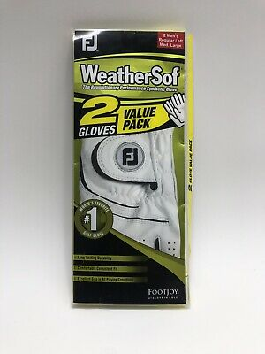 New FootJoy WeatherSof 2-Pack Golf Gloves - Value Pack - M/L