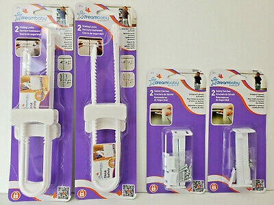 Dreambaby Child Safety Catches & Sliding Locks Childproof Cabinets & Drawers