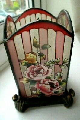 Deco Glass Candlestick  Cover   On Stand   5 Inches By 3 Inch Perfect