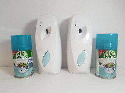 Lot of 2 AIRWICK X-Press Fresh Matic Push Button Room Deodorizer - PreOwned