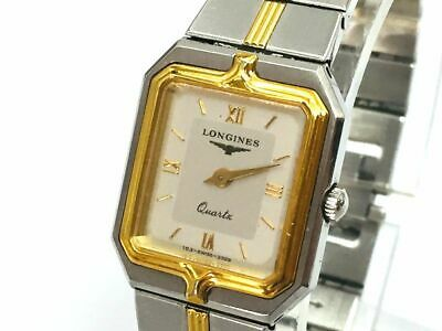 LONGINES Watch Flagship  New Battery Quartz 18K Gold Plated St.Steel    T1200