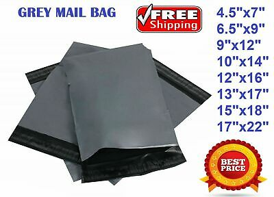 """9""""x 12"""" Grey Mailing Bags Strong Parcel Postage Plastic Post Poly Self Seal"""