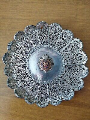 King George Royal Army Service Corps Silver metal Plate/Dish
