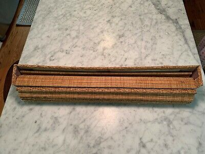 "New, ""Woven Grass"", Front Door, Self-Retracting, Lined Blind"