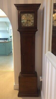 oak cased longcase/grandfather clock c.1760 slip Avenall of Farnham