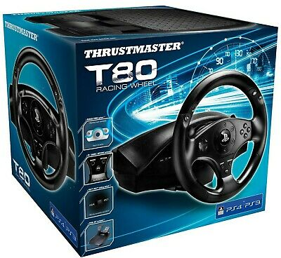 NEW!! Thrustmaster T80 Racing Wheel & Pedals 4169071 for Playstation PS3/PS4/PC